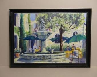 NELLY (SAIGNON FOUNTAIN) 62 X 45 framed painting