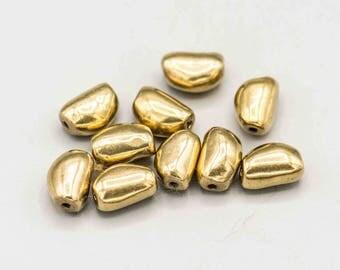 Brass Pebbles 11x7mm Set of 10 MB-20