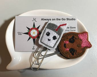 Milk and Cookies planner clips
