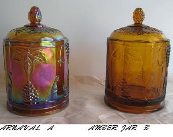 Indiana Harvest Grape Covered Canister Jars
