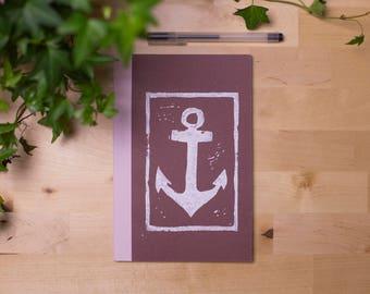 Notebook DIN A5 blank anchor