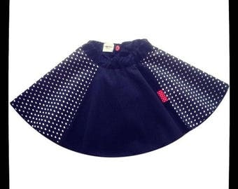 """Fall/winter clothes - skirt """"James"""" black girl hearts white"""