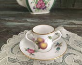 Cutest spode tea cup snd saucer  billingsley rise soay miniture duo dolls size tea cup collectable miniture spode tea cup and saucer