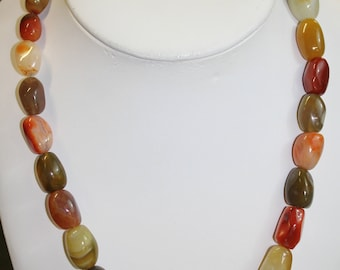 Smooth Stone Necklace