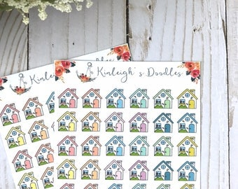 HOUSES // House Planner Stickers Mortgage Rent Reminder Cleaning
