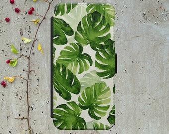 Palm Leaf Iphone 7 Plus Wallet Case Leather Iphone 7 Case Leather Iphone 7 Flip Case Iphone 7 Leather Wallet Case Iphone 7 Leather Sleeve