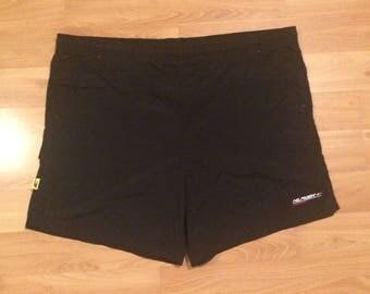 XL 90's Tommy Hilfiger Athletics swim trunks bathing suit men's vintage black 1990's board shorts