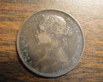 1891 Great Britain Penny - Great Find!