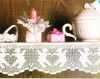 Vintage crochet self edging UK pattern in pdf