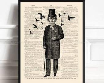 Allan Poe Poster, Husband Wife Gift, Edgar Allan Poe, Nevermore Raven, Goth Art Poster, Gothic Black Bird, Christmas Gift, Anniversary 133