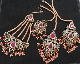 NAFIRA Earring, tikka and Jhumr Set