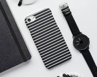 Black And White Lines iPhone Case iPhone 8 Case iPhone 8 Plus Case iPhone 7 Case iPhone 7 Plus Case iPhone 6s Case iPhone 6s Plus Case Matte