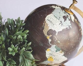 Custom Quote Globe | Custom Lettered Globe | Hand Lettered Globe | Hand Painted Globe