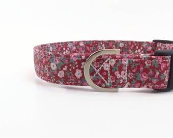 Ruby Floral Dog Collar   Chintz Dog Collar   Girl Dog Collar   Dog Collar   Floral Dog Collar   Small Dog Collar   Dog Lead and collar