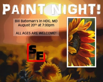 Sunflower Paint Night