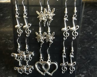Selection of hand crafted earrings