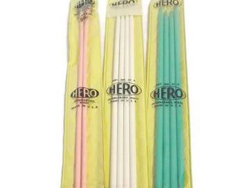 3 Hero Knitting Needles Double Point Needles Sizes 4, 7, & 9 Knitting Supplies Hero Needles Plastic Needles Basic Needles Dual Point Needles