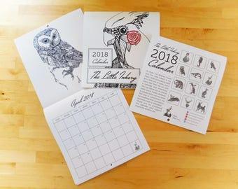 2018 Wildlife Calendar - The Little Inkery