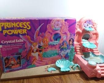 Princess of Power Crystal Falls Playset Vintage Water Wonderland Fantasy Spa for She-Ra & Friends 1986 MOTU Mattel