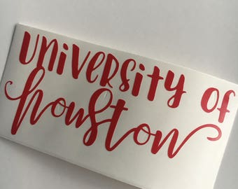 Houston | University of Houston sticker | U of H | Cougars | vinyl | decal | sticker | Yeti | laptop car window