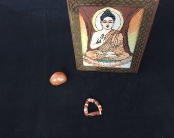 Sacral Chakra Ring-carnelian/chakra/sacralchakra/healing/spiritual/yoga jewelry/hippie/ring/stretch/orange/meditation