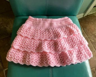 Pretty in Pink Ruffled Skirt for Girls