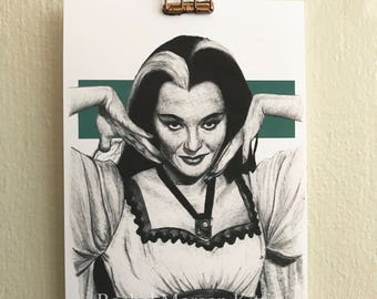 Lily Munster, The Munsters, Vintage, Old Hollywood, Spooky Lady, Yvonne De Carlo, Art Print