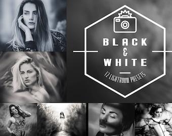Black & White - 12 Lightroom Presets