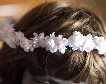 Pretty Shabby chic flowers Crown