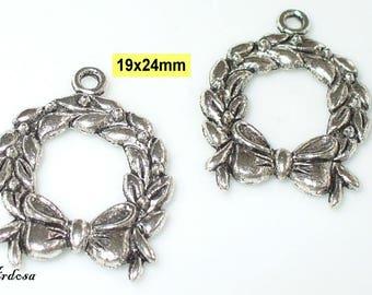 2 followers Garland Tibet silver 19x24mm (S25)