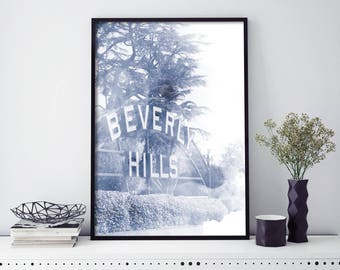 Beverly Hills, Los Angeles LA Watercolour Print Wall Art | 4x6 5x7 A4 A3 A2