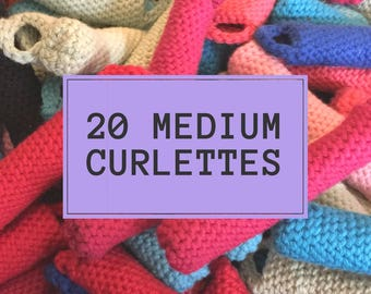 Curlettes: Medium set. PACK OF 20. The comfy way to get your vintage hair style overnight!