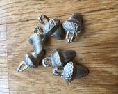 Large pewter acorn buttons
