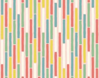 """Penny Rose Fabrics """"Coffee Break"""" by Penny Rose Studios Coffee Stripe In Pink"""