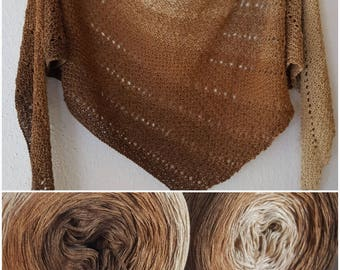 Designer yarn gradient Mocha bean barrel length selectable Knitting Crochet handmade lace yarn