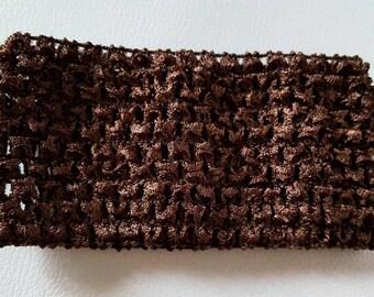 Dark soft brown crochet headband for tutus, dresses, hair accessory