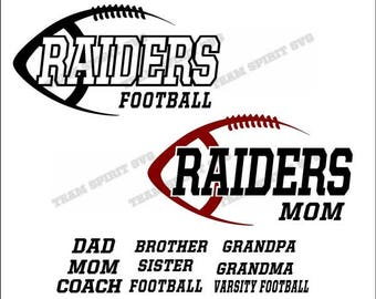Raiders Football Mom, Dad Download Files - SVG, DXF, EPS, Silhouette Studio, Vinyl  Files, Digital Cut Files -Use with Cricut and Silhouette