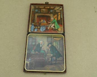 Win-El-Ware Tea Coasters/Table Mats - Vinage Scenes - Vintage
