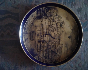 Fine China wall hanging plate.