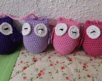 Little owls crochet Garland