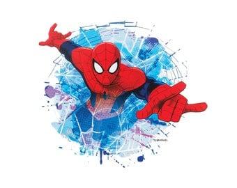 Spiderman Iron On Applique, Genuine Marvel Iron On Patch, Spiderman Patch, Superhero Patch, Kids Patch (113860)