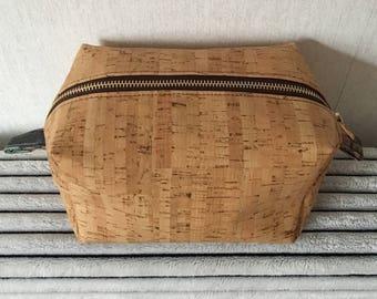 Cosmetic cork bag