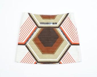 MIU MIU - Linen skirt with geometric pattern