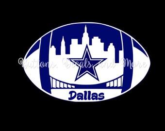 Dallas Cowboy Football Decal - use on a Yeti, RTIC, or Ozark cup, Car window, Walls, Home Windows, etc.