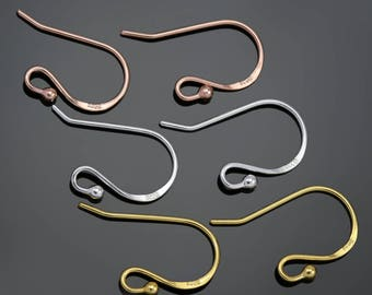 Earring hooks genuine solid silver 925 , gold vermeil, and rose gold vermeil