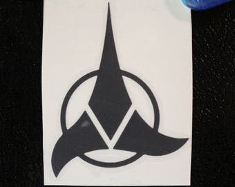 Star Trek Klingon Decal Any Size Any Colors