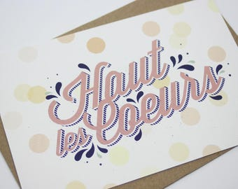 Card - Top hearts