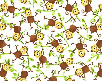 Monkeys on Vines from the Jungle Camp Collection by Swizzle Stick Studios