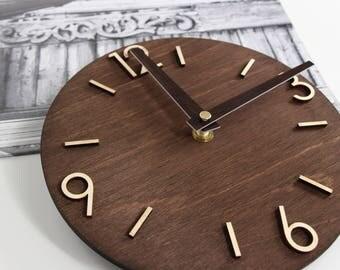 Wall Clock, Modern Clock, Wood Clock, Wooden Clock, Wood clock for wall, Wood Clock Modern, Wall Clocks Wood, Newlyweds Gift