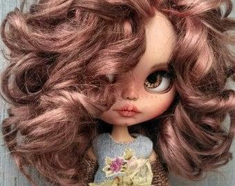 Elizabeth custom Blythe doll Ooak doll collectible doll mohair weft custom Blythe, Blythe doll, Blythe custom ooak